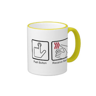 Push Button, Receive Bacon - Bacon Dispenser Ringer Mug