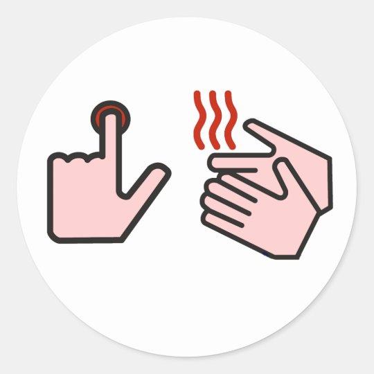 push button receive bacon classic round sticker