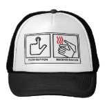 push button receive bacon hat