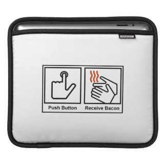 Push Button, Receive Bacon Sleeve For iPads