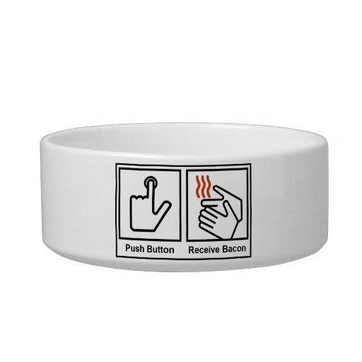 Push Button, Receive Bacon Pet Water Bowls