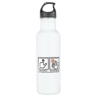 Push Button, Receive Bacon Stainless Steel Water Bottle