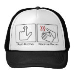 Push button, Receive Bacon Trucker Hat
