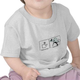 Push Button, Receive Bacon T-shirts