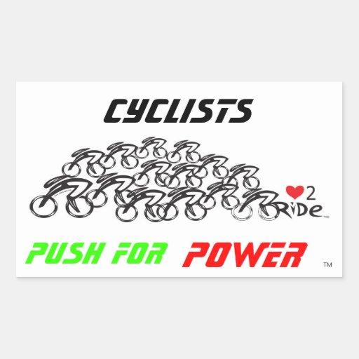Push for Power Rectangular Sticker