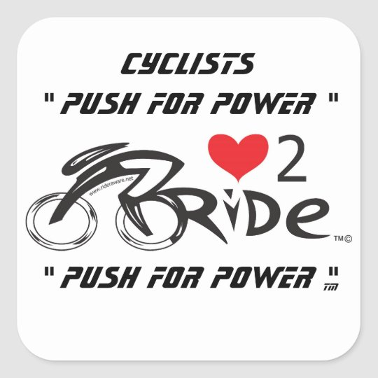 Push for Power Square Sticker