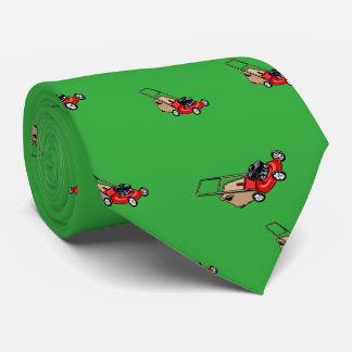 Push Lawn Mower Red Neck Tie
