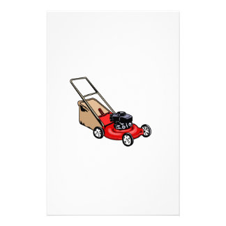 Push Lawn Mower Red Stationery