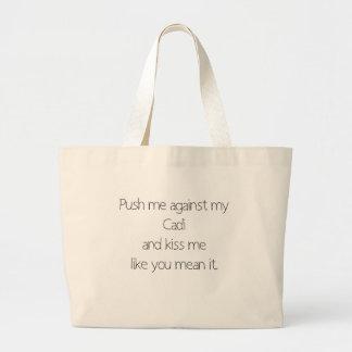 Push Me Large Tote Bag