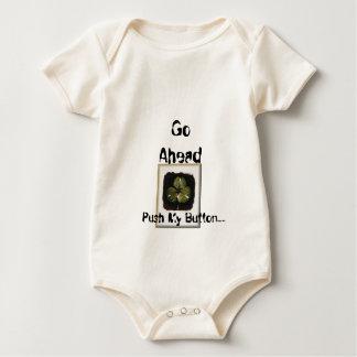 Push My Button..... Baby Bodysuit