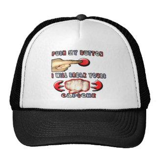 push my button i will break yours trucker hat