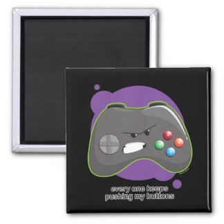 Push My Buttons 2 Inch Square Magnet
