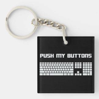 Push My Buttons Computer Keyboard Keychain