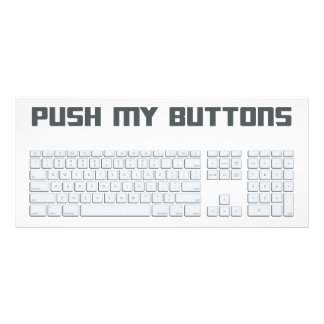 Push My Buttons Computer Keyboard Rack Card
