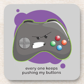 Push My Buttons Drink Coaster