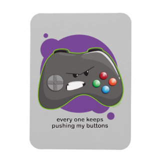 Push My Buttons Rectangular Photo Magnet