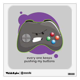 Push My Buttons Wall Sticker