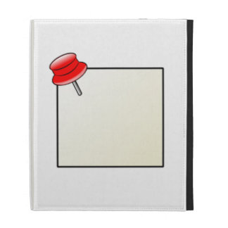 Push Pin and Note iPad Case