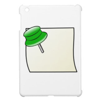 Push Pin and Note iPad Mini Cover