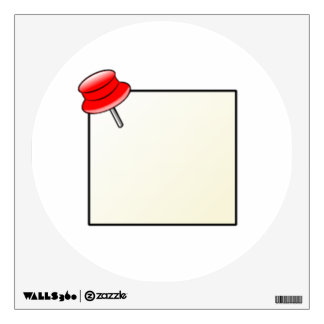 Push Pin and Note Wall Sticker