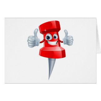 Push pin man greeting card