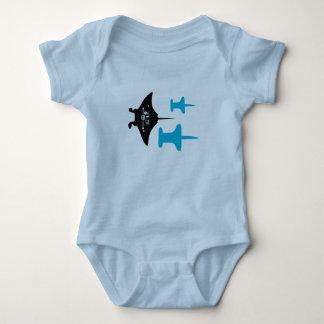 Push-Pin Stingray Baby Jersey Bodysuit