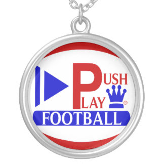 Push Play Football Necklace