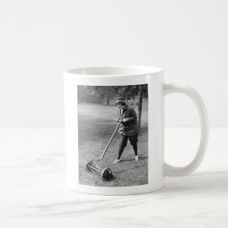 Push Reel Mower, 1910s Coffee Mug