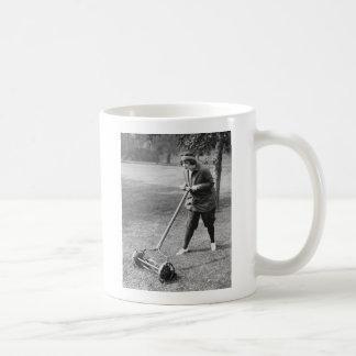 Push Reel Mower, 1910s Coffee Mug