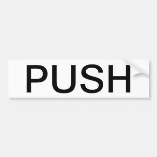 PUSH. Sign Bumper Sticker