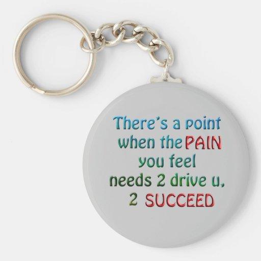 Push Thru Da Pain Key Chains