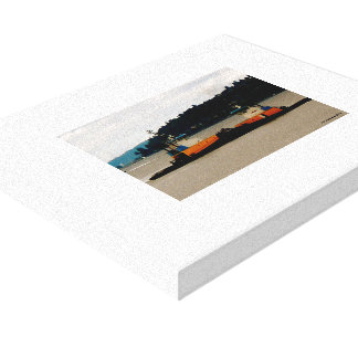 Push & Tug Gallery Wrapped Canvas