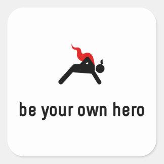 Push Ups Hero Square Sticker