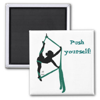 Push yourself! magnets