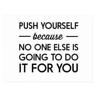 Push Yourself Postcard