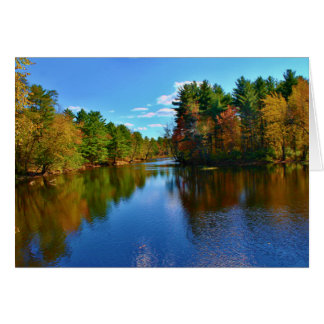 Pushaw Stream Autumn Reflections II Card