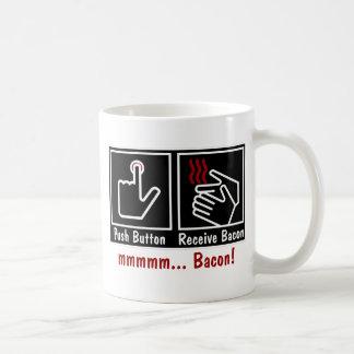 pushbaconblk taza de café
