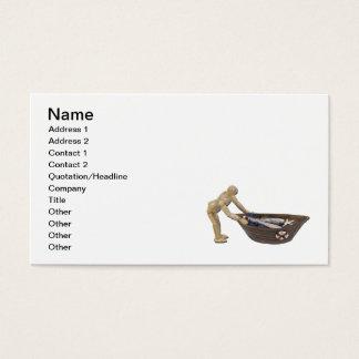 Pushing Rowboat Nets Business Card