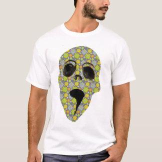 pushing up the daisies skull tshirt