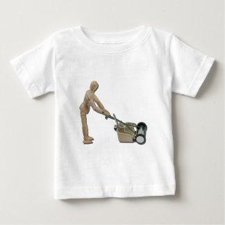 PushingLawnMower073011 Baby T-Shirt