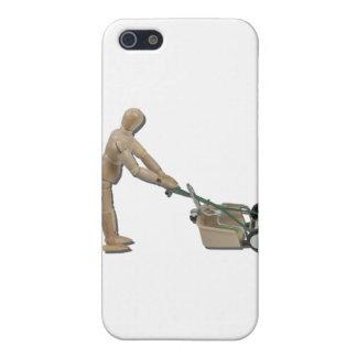PushingLawnMower073011 iPhone 5 Covers
