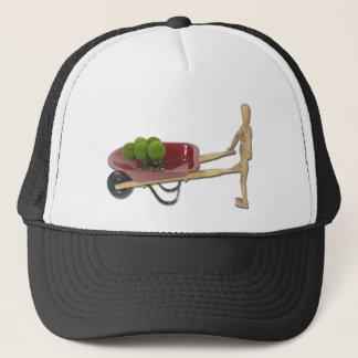 PushingWheelbarrowWithPlants050111 Trucker Hat