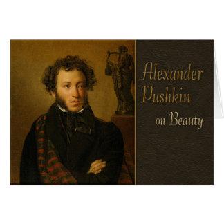 Pushkin en poesía de la belleza CC0338 Tarjeta De Felicitación
