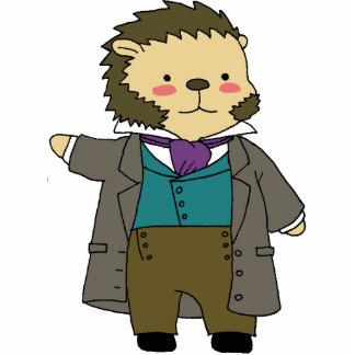 Pushkin hedgehog desk statue