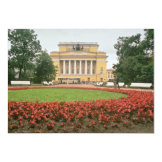 """Pushkin Theater, St. Petersburg, Russia flow 5"""" X 7"""" Invitation Card"""