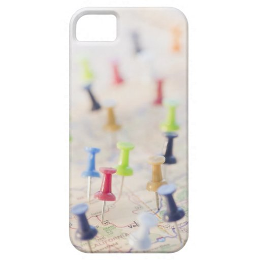 Pushpins in a map 2 iPhone 5 cases