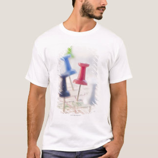 Pushpins in a map T-Shirt