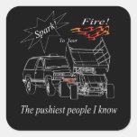 Pushy People Sq Sticker