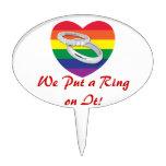 Pusimos un anillo en él boda gay figura para tarta