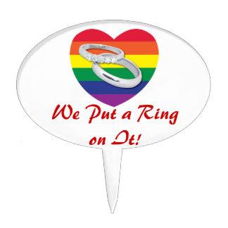 Pusimos un anillo en él boda gay figuras para tartas